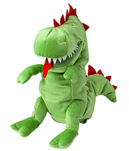 Ikea LASKIG 602.410.11 Glove Hand Plush Puppet, Dragon, 1 Size Fits All, 24 Months and Up ()
