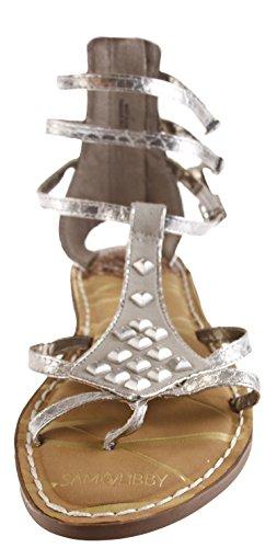 Sam Karli mit Libby Dreieck Silber Nieten Tall in Sandale Gladiator RRrTxwqF