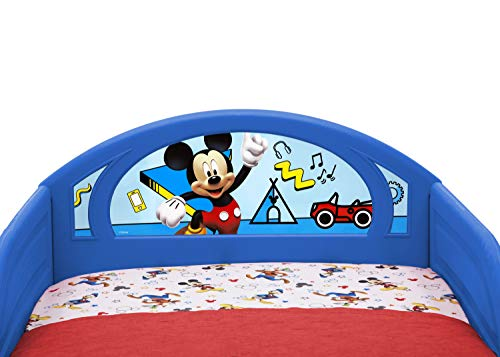 Disney Mickey Mouse Deluxe Toddler Bed with Attached Guardrails 3