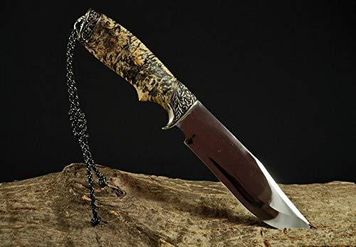 Handmade Custom Hunting Knife Leather Sheath Wood Handle Stainless Steel
