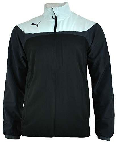 Puma Windbreaker Jacket - Puma Esito 3 Leisure Track Jacket Men Casual Top Windbreaker Black / White, Sizes:M