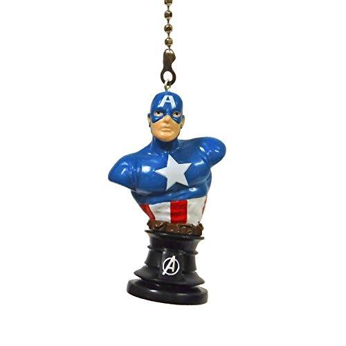 Marvel comics SUPER HERO superhero character Ceiling FAN PULL light chain (Captain America Bust)