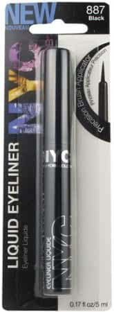 New York Color Liquid Eyeliner, Black, 887, 0.17 oz