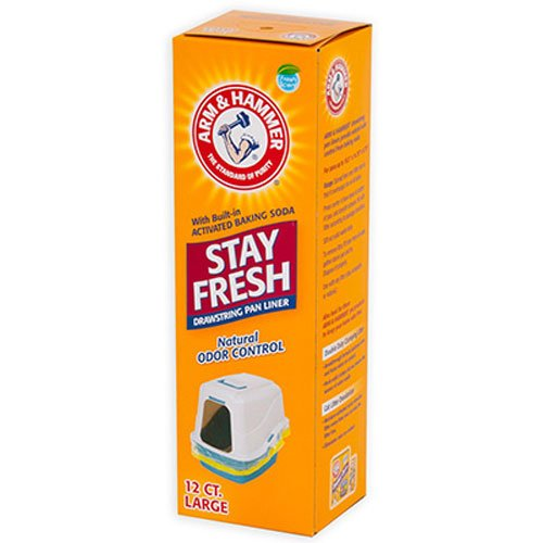 Arm & Hammer 12 Count Drawstring Liners, Large