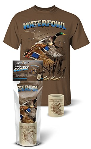 terfowl (Duck) Hunting T-Shirt and Koozie Combo Gift Set (XX-Large) ()