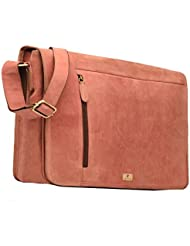 DH OOTY genuine buffalo leather messenger bag in vintage style shoulder travel bag laptop bag for men and women