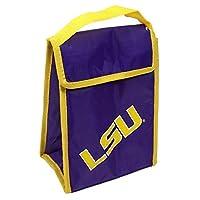 NCAA LSU Tigers Big Logo Velcro Lunch Bag, Yellow