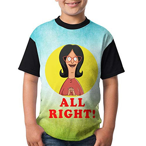 All Right Bob's Burgers Youth Raglan Short Sleeve Tee Casual Crew Neck T-Shirt -