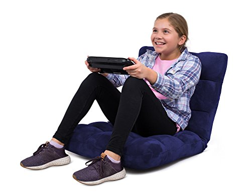 - BirdRock Home Adjustable 14-Position Memory Foam Floor Chair | Padded Gaming Chair | Comfortable Back Support | Rocker | Great for Reading Games Meditating | Fully Assembled | Blue