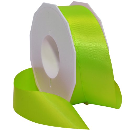 Morex Ribbon Neon Brights Satin, 1 1/2-inch by 50-yard, Key Lime