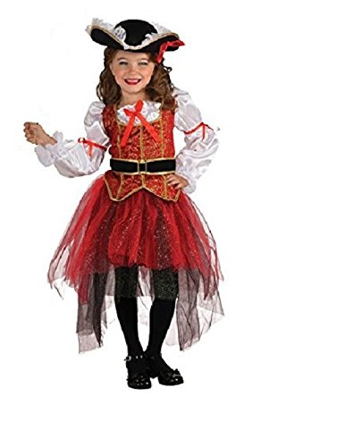 Rubie's Let's Pretend Princess Of The Seas Costume - Medium (8-10) - Pirate Shirts For Girls