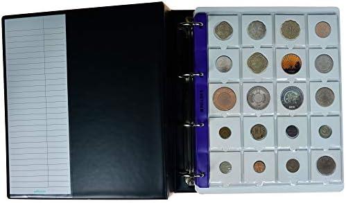 Pellers Álbum de Colección 200 Cartones para Monedas, 10 Fundas y Cartulinas Separadoras, Negro, Modelo XL: Amazon.es: Hogar