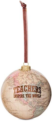 Pavilion Gift Company 61021 Teacher Globe Ornament 33/4quot