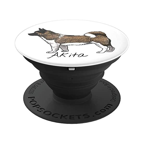 akita inu japanese dog gifts for men women PopSockets Grip and Stand for Phones and Tablets 1