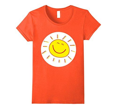 Womens Happy Sunshine Halloween Group Costume TShirts Small (Orange Care Bear)