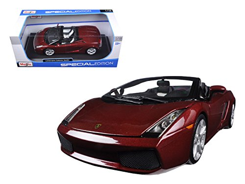Maisto Lamborghini Gallardo Spyder Burgundy 1/18 Model Car