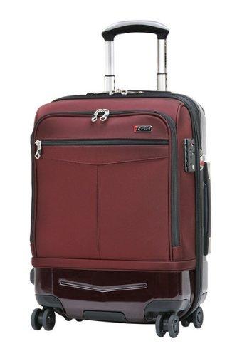 Ricardo Beverly Hills Luggage Rodeo Drive 21-Inch 4-Wheel Expandable Hybrid Wheelaboard, Black Cherry, One Size ()