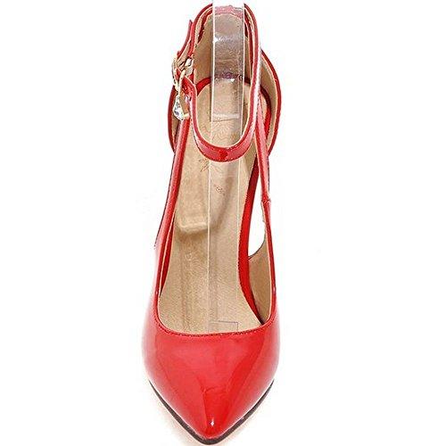 Punta Tacco Scarpe Rosso Pumps Ufficio Longfengma Stiletto Da Basso Women Moda A Cinturino Caviglia Alla qxTzvFTyw