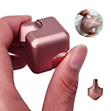 A-SZCXTOP Metal Magnetic Fidget Cube Square Dice Ultra Sturdy Hand Spinner Aluminum Alloy Fidget Spinner Toy 360 Degree Rotation Relieve Stress Anxiety for Children and Adults