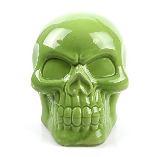 (DAJIADS Figurine Figurines Statue Statues Statuette Statues Africa Home Decor Skull for Decoration Skull Coin Piggy Bank Skeleton Abstract Sculptures Art Carving Statues Art Gift Green)