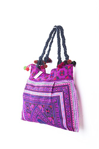 Tribes Unique Hill Bag Large Size Tote Changnoi Fabric Hmong Pink Embroidered PwBqtnfW
