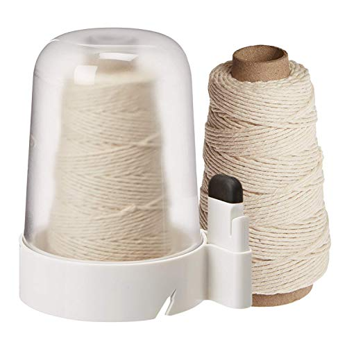 OXO Good Grips Twine Dispenser with Removable Cutter and 300-Feet Natural Cotton Twine Refill (600 ft Total) ()