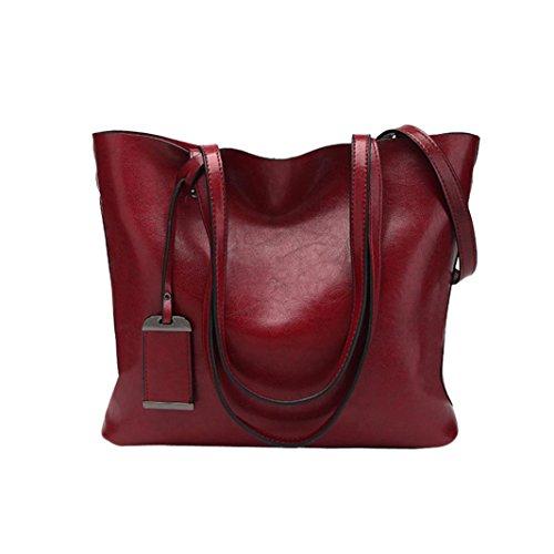 for Wine Leather Crossbody Bag Shoulder Tote Satchel Bag Bag Handbag Women 8rxvg8