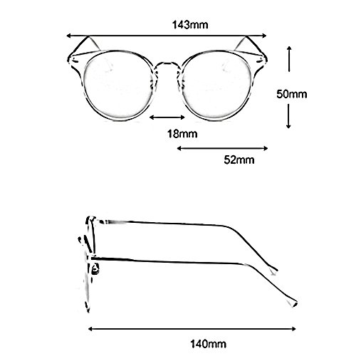 circular gafas Retro de sol protección Lady personalidad protección Color solar de Pink Fashion color de Gafas ZHIRONG UV Amarillo polarizadas transparentes wXx0PPq
