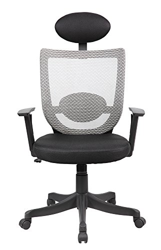 Black Leatherette Cushion Swivel Recliner (Ergonomic High Back Executive Managers Mesh Office Chair 8032 -)