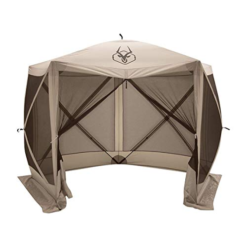 Gazelle Tents 25500 G5 Pop-Up Portable 5-Sided Hub Gazebo/Screen Tent, Easy Instant Set Up in 60 Seconds