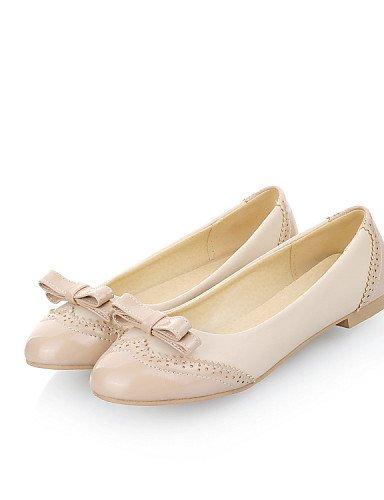ZQ gyht Scarpe Donna-Ballerine-Casual-Punta arrotondata-Piatto-Finta pelle-Rosa / Bianco / Beige , pink-us8 / eu39 / uk6 / cn39 , pink-us8 / eu39 / uk6 / cn39 white-us5 / eu35 / uk3 / cn34