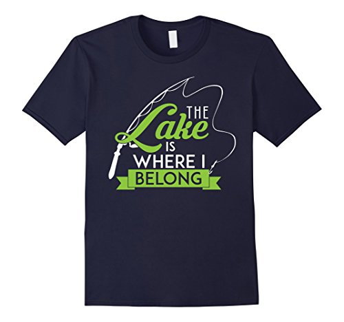 Mens The Lake Is Where I Belong Cute Nature Cabin T-Shirt XL - Shops At Creek Cherry