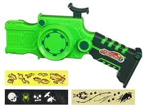 Hasbro Beyblade Metal Masters Super lanzador Wind Up Launcher - Lanzador para peonzas Beyblade con adhesivos decorativos, color verde