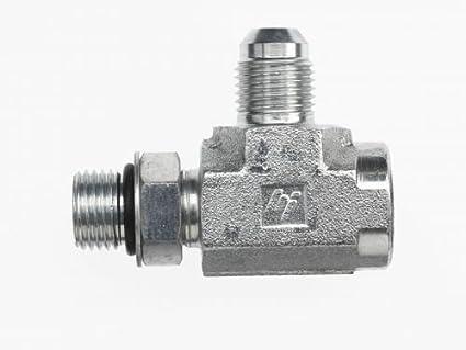 O-Ring Boss x 3//8 Male JIC 9//16-18 SAE ORB x 9//16-18 SAE ORB x 9//16-18 JIC Thread Inc. 3//8 Female O-Ring Boss x 3//8 Male Adjust Brennan 6820-06-06-06-NWO-FG Forged Steel Tee Tube Fitting 9//16-18 SAE ORB x 9//16-18 SAE ORB x 9//16-18 JIC Thread