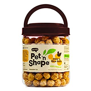 Pet 'n Shape Chik 'N Rice Balls - All Natural Dog Treats, 1 Lb