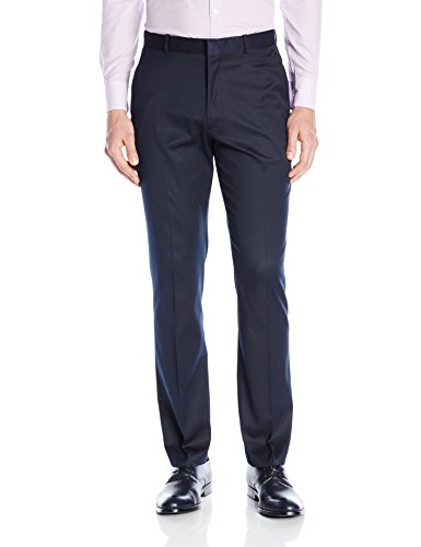 Perry Ellis Men's Solid Slim Fit Pant, Navy, 33x32 by Perry Ellis