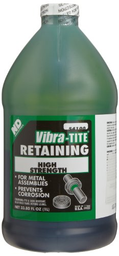 Vibra-TITE 541 High Strength Slip Fit Anaerobic Retaining Compound, 1 liter Jug, Green by Vibra-TITE