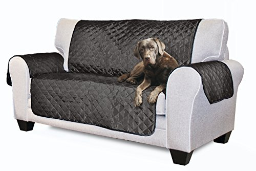 Furhaven Reversible Pinsonic Poly Loveseat Protector - Gray/Mist