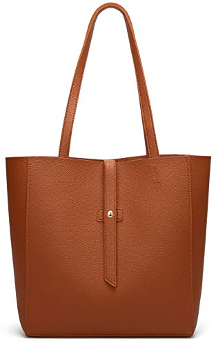 Women's Large Tote Shoulder Handbag Soft Leather Satchel Bag Hobo Purse Brown