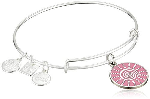 Alex and Ani Women's Charity by Design - Spiral Sun Expandable Charm Bangle Bracelet Shiny Silver Bangle Bracelet One (Expandable Spiral)