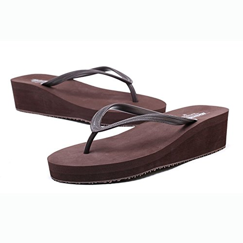 con Playa Brown Verano Chanclas Sandals Zapatillas Pendiente Brown S Respirable TxBRTW0