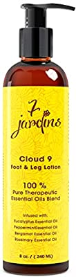 7 Jardins Cloud 9 Foot and Leg Lotion with Shea Butter, Herbal and Essential Oils (Eucalyptus, Peppermint, Bergamot & Rosemary) Gentle and Soothing, Sulfate and Paraben Free