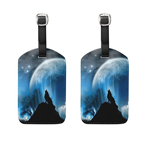 ALAZA Galaxy Luggage Tags PU Leather Travel Bag Tag Suitcase Baggage Label 2PCS (Golf Leather Luggage Tag)