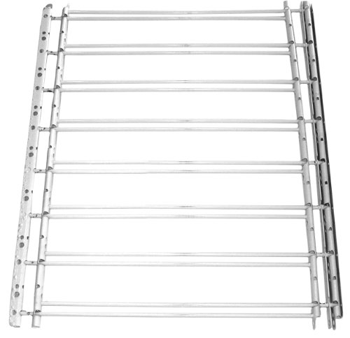 Victorian Gate - John Sterling Fixed Window Guard 8Bar 30x24-42 Inches White