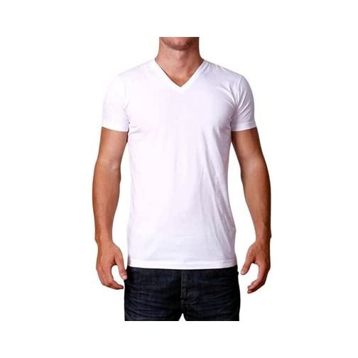 Custom Mens V-Neck T-Shirts Design Your Own Text or Image Adult Unisex Shirt |