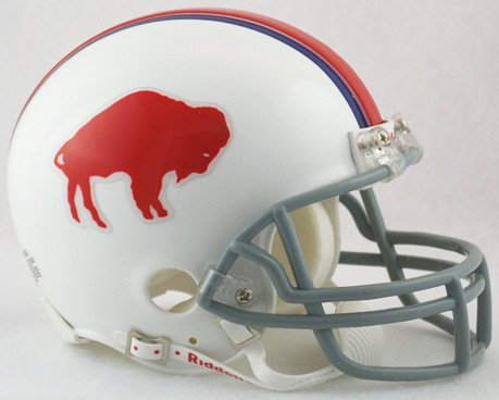 Riddell NFL Buffalo Bills 1965-1973 Throwback Replica Vsr4 Mini Football Helmet 1969 Riddell Mini Replica