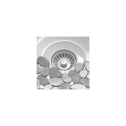 InterDesign Pebblz Sink Protector Mat - Stainless Steel Sinks - Graphite, Regular ()