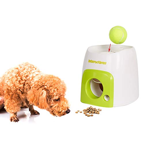 Dporticus Dog Training Feeder Throw The Ball to Get The Food Reword Toy,No Extra Force with a Tennis Ball