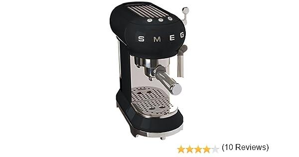 SMEG Máquina de café expreso ECF01BLEU, Acero Inoxidable, Negro ...