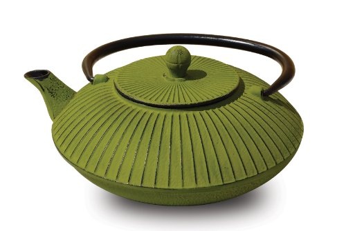Old Dutch Cast Iron Fidelity Teapot, 27-Ounce, Moss Green